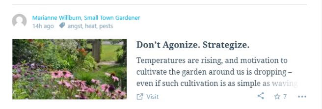 don't agonize